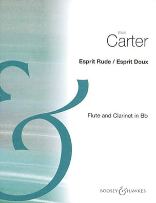 Esprit rude / Esprit doux Elliott Carter Partition laflutedepan