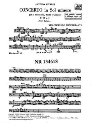 Concerto en sol min. - F. 3 n° 2 - Set Matériel VIVALDI laflutedepan