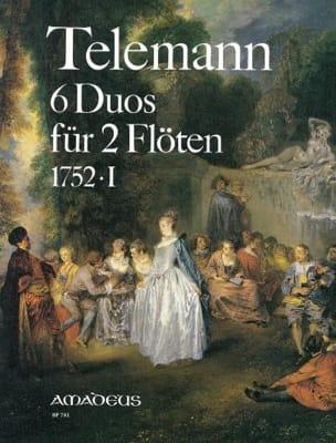 6 Duos 1752 . 1 - Flöten TELEMANN Partition laflutedepan