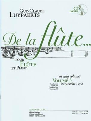 De la flûte... - Volume 3 Guy-Claude Luypaerts Partition laflutedepan