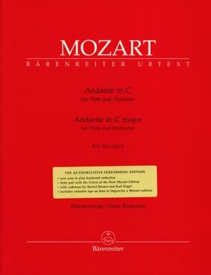 Andante In C-Dur Kv 315 - Flute Piano MOZART Partition laflutedepan