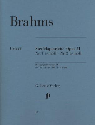 Quatuors à Cordes N° 1 et N° 2 BRAHMS Partition laflutedepan