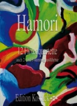 12 Flötenquartette Thomas Hamori Partition laflutedepan