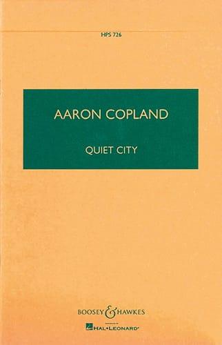 Quiet City - COPLAND - Partition - Petit format - laflutedepan.com