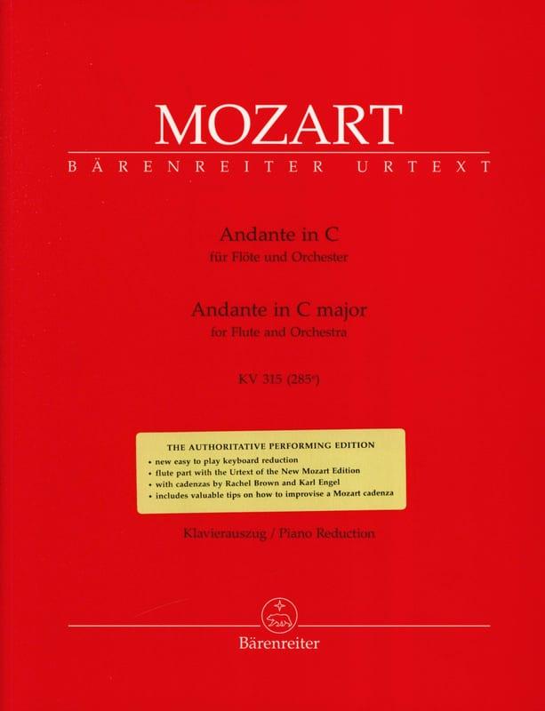 Andante In C-Dur Kv 315 - Flute Piano - MOZART - laflutedepan.com