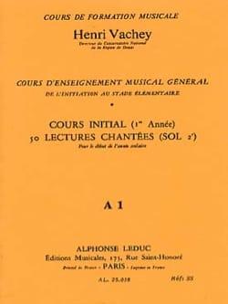 50 Lectures chantées - A1 1 clé init. S/A Henri Vachey laflutedepan