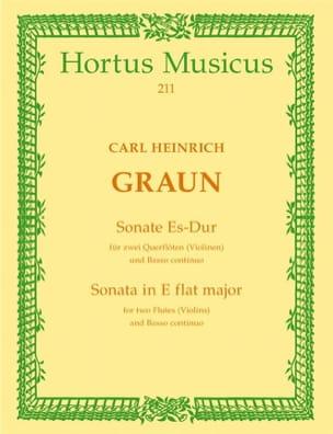 Sonate Es-Dur - 2 Flöten Violinen Bc Carl Heinrich Graun laflutedepan