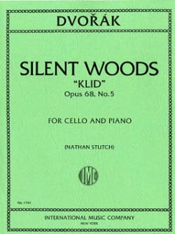 Silent Woods Klid op. 68 n° 5 DVORAK Partition laflutedepan
