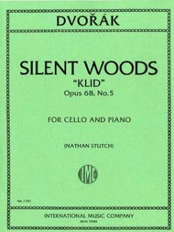 DVORAK - Silent Woods Klid op. 68 n ° 5 - Partition - di-arezzo.com