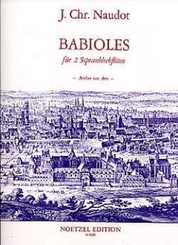 Babioles Op.10 Jacques Christophe Naudot Partition laflutedepan