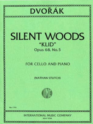 Silent Woods Klid op. 68 n° 5 - DVORAK - Partition - laflutedepan.com