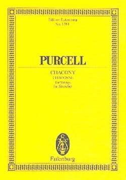 Chacony PURCELL Partition Petit format - laflutedepan