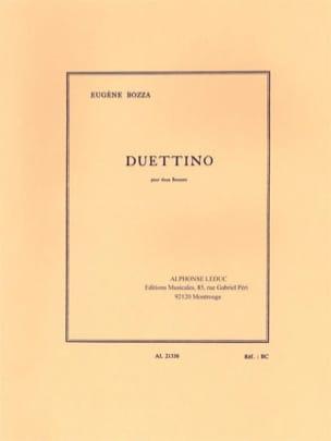 Duettino - 2 Bassons Eugène Bozza Partition Basson - laflutedepan
