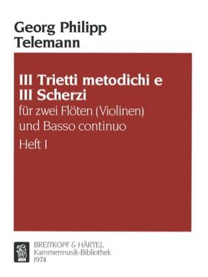 3 Trietti metodichi e Scherzi - Heft 1 -2 Flöten Violinen Bc laflutedepan