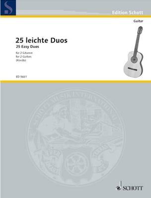 25 leichte Gitarren-Duos Partition Guitare - laflutedepan