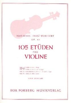 Benda Hans / Wohlfahrt Franz - 105 Studies op. 45, Volume 1 - Partition - di-arezzo.com