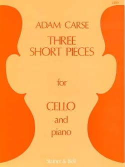 Three Short Pieces - Adam Carse - Partition - laflutedepan.com