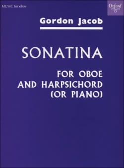 Sonatina - Oboe and harpsichord piano Gordon Jacob laflutedepan