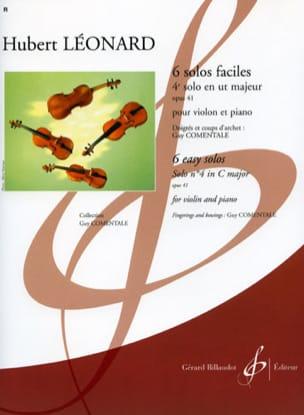 4ème Solo en ut majeur, op. 41 Comentale Hubert Léonard laflutedepan