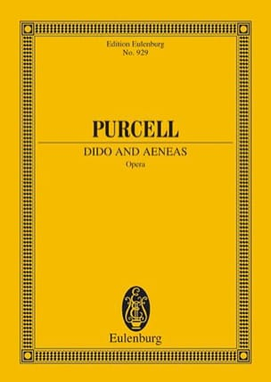 Dido and Aeneas PURCELL Partition Petit format - laflutedepan