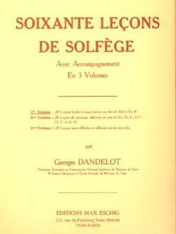 DANDELOT - 60 Solfege Lessons - Volume 1 A / A - Partition - di-arezzo.co.uk