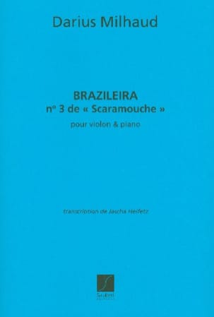 Braziliera, n° 3 de Scaramouche MILHAUD Partition laflutedepan
