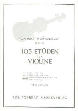 Benda Hans / Wohlfahrt Franz - 105 Studies op. 45, Volume 3 - Partition - di-arezzo.com