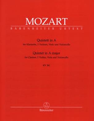 Quintette en La Majeur KV 581 - Clarinette et quatuor à cordes. Parties instrum laflutedepan