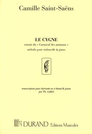 Le cygne - Clarinette et piano SAINT-SAËNS Partition laflutedepan