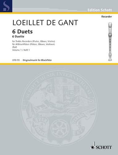 6 Duette - Bd 1 - 2 Altblockflöten - laflutedepan.com