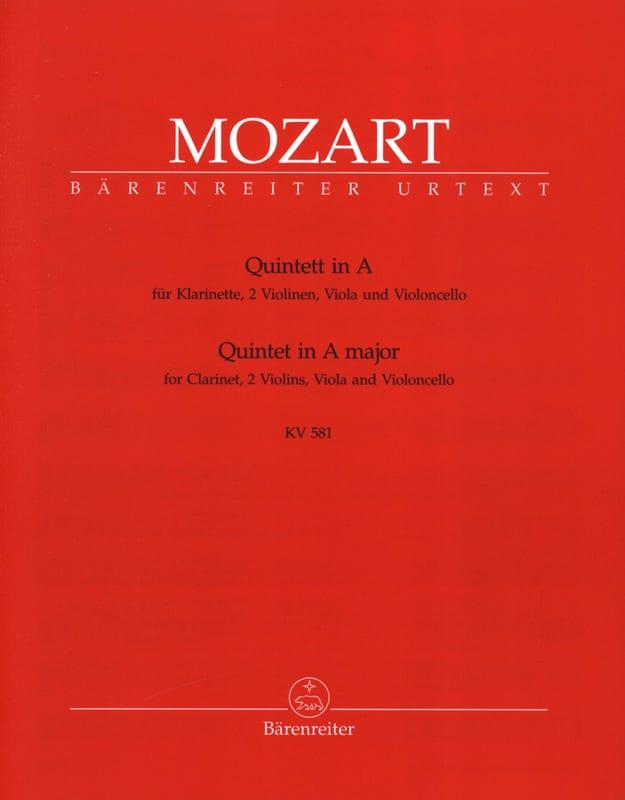 Quintette en La Majeur KV 581 - Clarinette et quatuor à cordes. Parties instrum - laflutedepan.com