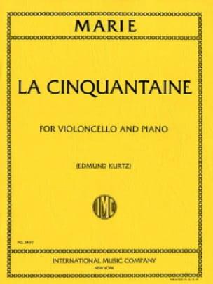 La cinquantaine - Cello - Gabriel-Marie - Partition - laflutedepan.com