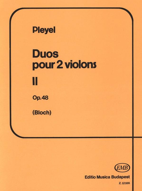 Duos Violons Op.48 Vol.2 - Ignaz Pleyel - Partition - laflutedepan.com