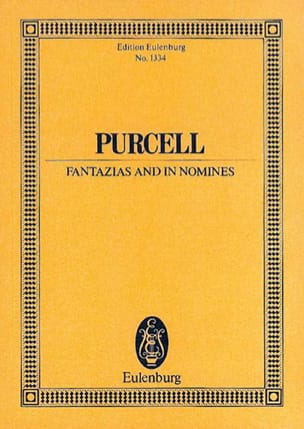 Fantazias and In Nomines PURCELL Partition Petit format - laflutedepan