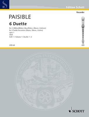 6 Duette op. 1, Bd 1 Nr. 1-3 -2 Altblockflöten laflutedepan