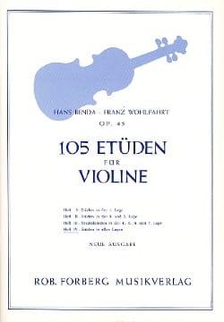 Benda Hans / Wohlfahrt Franz - 105 Studies op. 45, Volume 4 - Partition - di-arezzo.com
