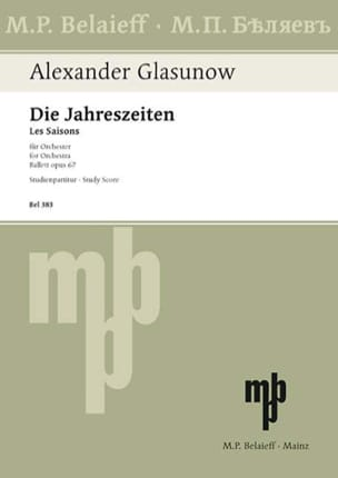 Die Jahreszeiten op. 67 - Partitur Alexandre Glazounov laflutedepan