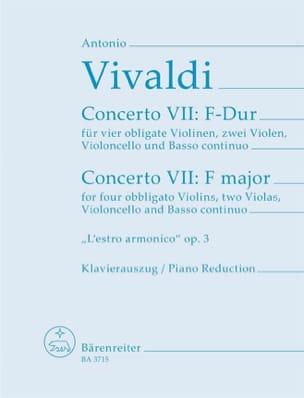 Concerto Nr. 9 F-Dur -4 Violinen Klavier VIVALDI laflutedepan