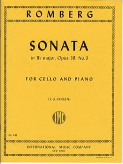 Sonate en si bémol maj. op. 38 n° 3 - ROMBERG - laflutedepan.com