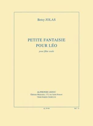 Petite fantaisie pour Léo Betsy Jolas Partition laflutedepan