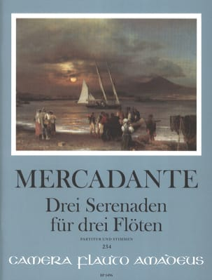 3 Sérénades - 3 Flûtes Saverio Mercadante Partition laflutedepan