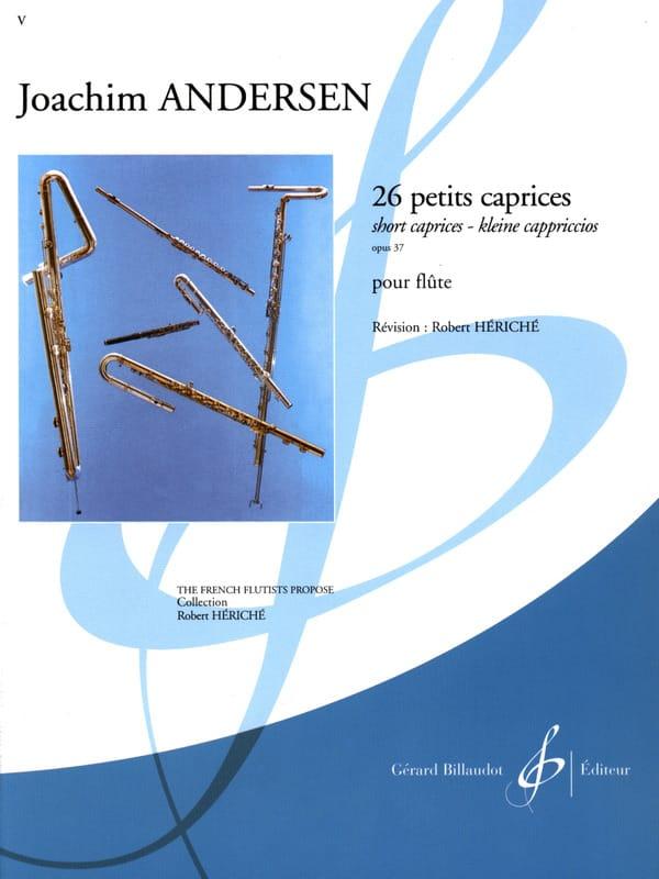 26 Petits caprices op. 37 - ANDERSEN - Partition - laflutedepan.com