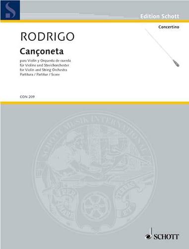 Cançoneta - Partitur - RODRIGO - Partition - laflutedepan.com