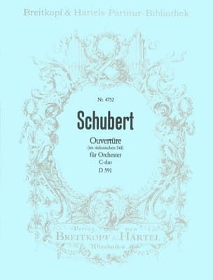 Ouvertüre C-dur D 591 SCHUBERT Partition Grand format - laflutedepan