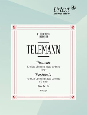 Triosonate TWV 42:e2 TELEMANN Partition Trios - laflutedepan