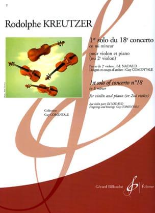 1er Solo du Concerto n° 18 Comentale Rodolphe Kreutzer laflutedepan