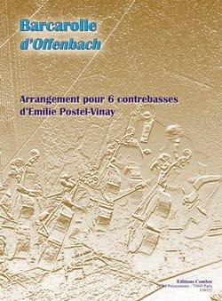 Barcarolle OFFENBACH Partition Contrebasse - laflutedepan