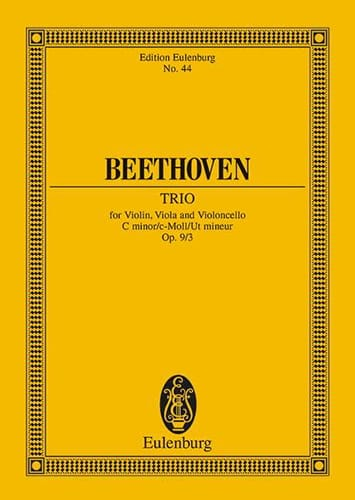 Streich-Trio C-Moll, Op. 9/3 Do Min. - Conducteur - laflutedepan.com