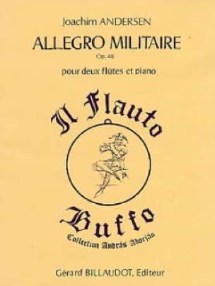 Allegro militaire op. 48 - ANDERSEN - Partition - laflutedepan.com