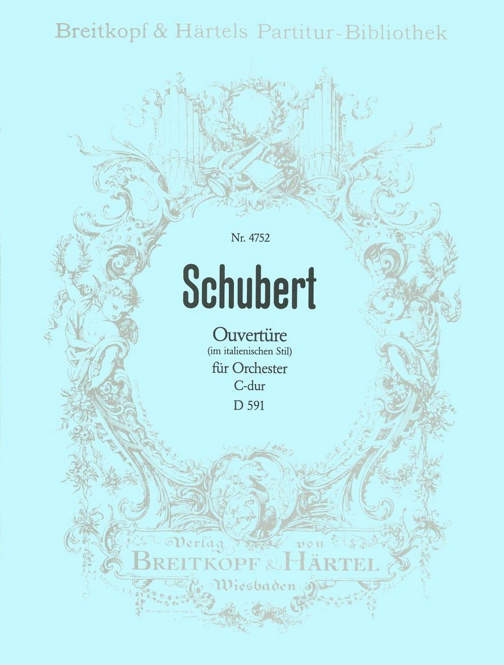 Ouvertüre C-dur D 591 - SCHUBERT - Partition - laflutedepan.com